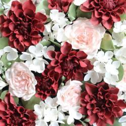 Sugar Dahlias and Garden Roses 2